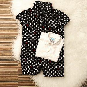 👶🏻Unisex bundle romper + shirt 6-12 mo